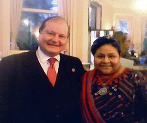 Massimo Barra Con il Premio Nobel Rigoberta Menchu